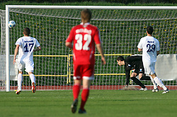 Goalkeeper of Hit Gorica Mitja Pirih at 28th Round of Slovenian First League football match between NK Interblock and ND Hit Gorica ZAK Stadium, on April 11, 2009, in Ljubljana, Slovenia. Gorica won 2:1. (Photo by Vid Ponikvar / Sportida)
