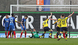 Rob Dickie of Oxford United celebrates scoring the opening goal - Mandatory by-line: Joe Dent/JMP - 17/03/2018 - FOOTBALL - Kassam Stadium - Oxford, England - Oxford United v Peterborough United - Sky Bet League One