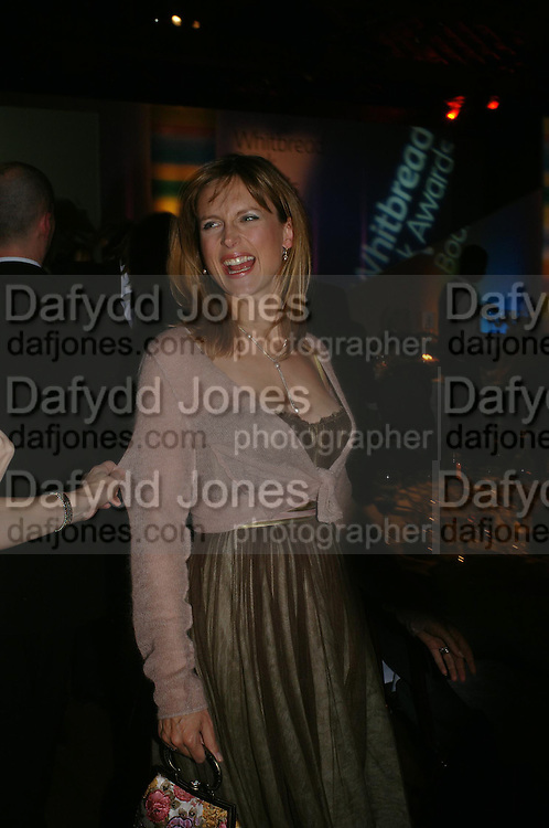 Katie Derham. 2004 Whitbread Book Awards. The Brewery, Chswell st. London EC1. 25 January 2005. ONE TIME USE ONLY - DO NOT ARCHIVE  © Copyright Photograph by Dafydd Jones 66 Stockwell Park Rd. London SW9 0DA Tel 020 7733 0108 www.dafjones.com