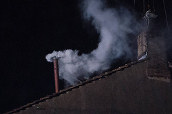 White Smoke increases out the Chimney the Sistine Chapel, Vatican city, Italy,  March 13, 2013. Photo by Imago / i-Images...UK ONLY..Contact..Andrew Parsons: 00447545 311662.Stephen Lock: 00447860204379