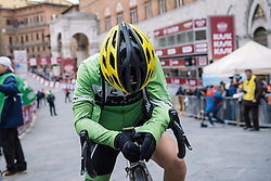 Shelley Olds catches her breathe after finishing seventeenth - 2016 Strade Bianche - Elite Women, a 121km road race from Siena to Piazza del Campo on March 5, 2016 in Tuscany, Italy.