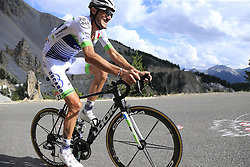 Brice Feillu (FRA) Fortuneo-Oscaro climbs through the Caisse Deserte on Col d'Izoard during Stage 18 of the 104th edition of the Tour de France 2017, running 179.5km from Briancon to the summit of Col d'Izoard, France. 20th July 2017.<br /> Picture: Eoin Clarke | Cyclefile<br /> <br /> All photos usage must carry mandatory copyright credit (© Cyclefile | Eoin Clarke)