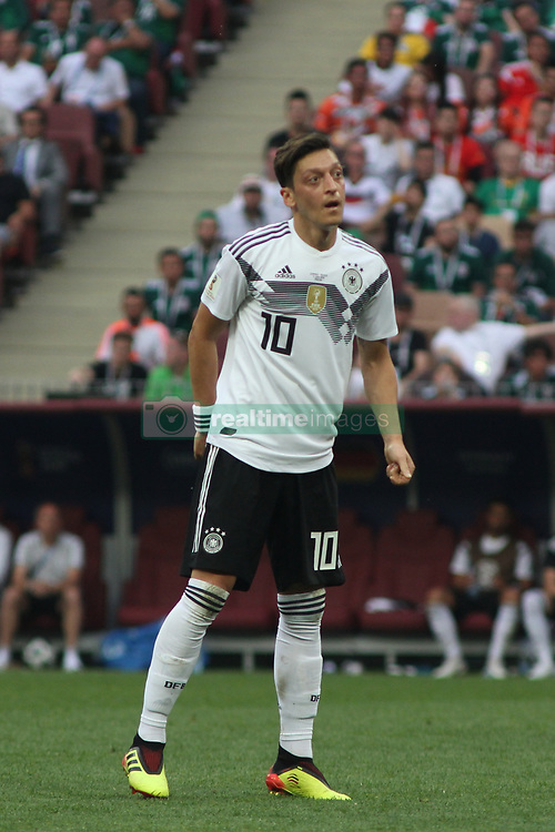 June 17, 2018 - Moscow, Russia - June 17, 2018, Russia, Moscow, FIFA World Cup, First round, Group F, Germany vs Mexico at the Luzhniki stadium. Player of the national team Main coach; trainer; Mesut Ozil. (Credit Image: © Russian Look via ZUMA Wire)