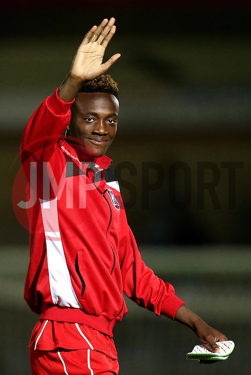 Tammy Abraham of Bristol City waves to the fans after the win at Wycombe Wanderers in the EFL Cup - Mandatory by-line: Robbie Stephenson/JMP - 09/08/2016 - FOOTBALL - Adams Park - High Wycombe, England - Wycombe Wanderers v Bristol City - EFL League Cup
