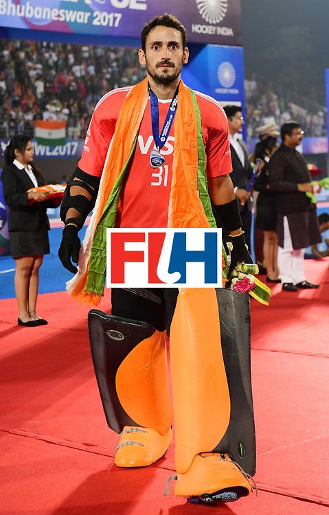 Odisha Men's Hockey World League Final Bhubaneswar 2017<br /> Match id:<br /> Ceremony<br /> Foto: keeper Agustin Abratte (Arg) <br /> COPYRIGHT WORLDSPORTPICS FRANK UIJLENBROEK