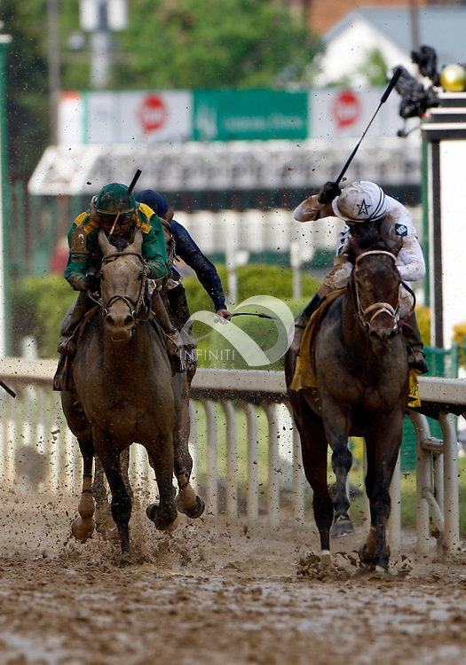 1 May 2010:  2010 Kentucky Derby at Churchill Downs in Louisville, KY won by Super Saver - Jockey Calvin Borel