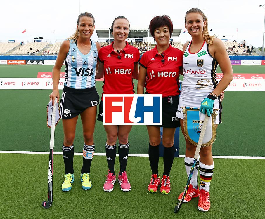 New Zealand, Auckland - 24/11/17  <br /> Sentinel Homes Women&rsquo;s Hockey World League Final<br /> Harbour Hockey Stadium<br /> Copyrigth: Worldsportpics, Rodrigo Jaramillo<br /> Match ID: 10307 - ARG-GER<br /> Photo: (12) MERINO Delfina, (8) SCHR&Ouml;DER Anne&nbsp;(C)