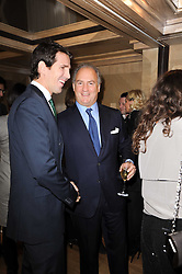 Left to right, CROWN PRINCE PAVLOS OF GREECE and CHARLES FINCH at a dinner hosted by jewellers Damiani at The Connaught Hotel, London on 3rd February 2010.