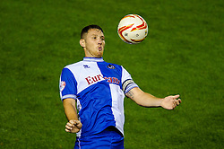 Bristol Rovers Defender Tom Parkes (ENG) heads the ball during the second half of the match - Photo mandatory by-line: Rogan Thomson/JMP - Tel: 07966 386802 - 04/09/2013 - SPORT - FOOTBALL - Ashton Gate, Bristol - Bristol City v Bristol Rovers - Johnstone's Paint Trophy - First Round - Bristol Derby