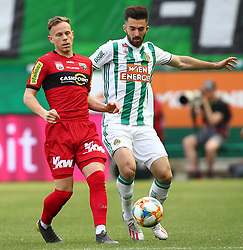 25.05.2019, Allianz Stadion, Wien, AUT, 1. FBL, SK Rapid Wien vs Cashpoint SCR Altach, Qualifikationsgruppe, 32. Spieltag, im Bild v.l. Marco Meilinger (Cashpoint SCR Altach) und Marvin Potzmann (SK Rapid Wien) // during the tipico Bundesliga qualification group 32nd round match between SK Rapid Wien and Cashpoint SCR Altach at the Allianz Stadion in Wien, Austria on 2019/05/25. EXPA Pictures © 2019, PhotoCredit: EXPA/ Thomas Haumer