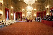 Roma, 28 Aprile  2013.Quirinale, il salone delle feste dove giurano i ministri del Governo Letta..