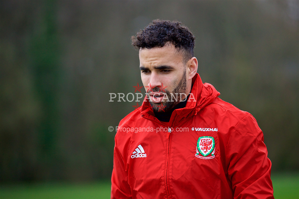 CARDIFF, WALES - Thursday, March 23, 2017: Wales' Hal Robson-Kanu arrives for a training session at the Vale Resort ahead of the 2018 FIFA World Cup Qualifying Group D match against Republic of Ireland. (Pic by David Rawcliffe/Propaganda)