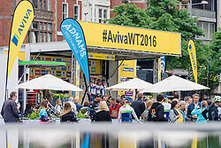 Cervélo Bigla presented to the crowds in Nottingham at Aviva Women's Tour 2016 - Stage 4. A 119.2 km road race from Nottingham to Stoke-on-Trent, UK on June 18th 2016.