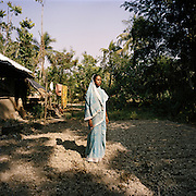 "Sudhanya Khali, Unesco reserve in the Sundarban with more than 100 islands,home to the largest mangrove forest in the world, 9 December 2010..Seba Midy, 27, Tiger Widow, was attacked her husband was attacked while he was fishing crabs for the first time in his life in September 2009: ""I am lucky, I got the body, "" she said.."