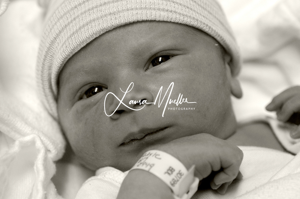 8/09/05  Baby Evan...just born yesterday. © Laura Mueller