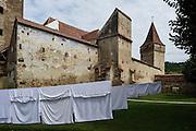 Moşna. The Saxon fortified church.