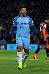 Goal, Sergio Aguero of Manchester City scores, Bournemouth 0-2 Manchester City - Mandatory by-line: Jason Brown/JMP - 13/02/2017 - FOOTBALL - Vitality Stadium - Bournemouth, England - Bournemouth v Manchester City - Premier League