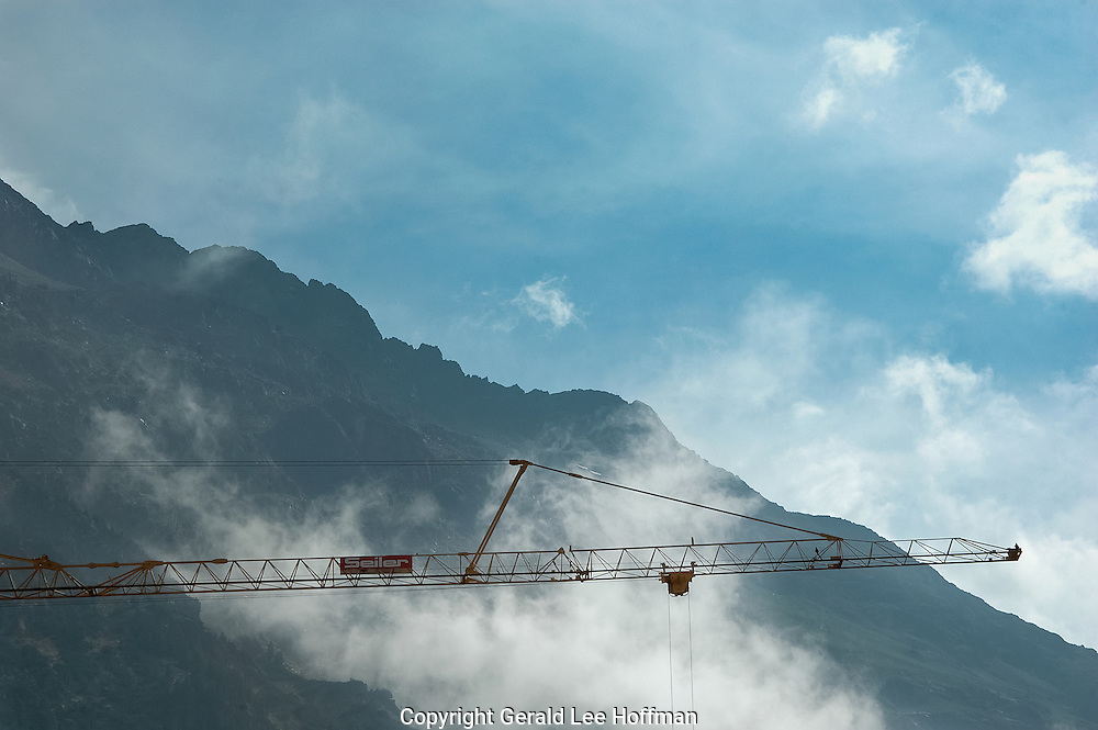 Alps Under Construction in Switzerland.