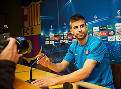 23.04.2012, Stadion Camp Nou, Barcelona, ESP, UEFA CL, Halblfinal-Rueckspiel, FC Barcelona (ESP) vs FC Chelsea (ENG), im Bild FC Barcelona's Gerard Pique ahead the UEFA Championsleague Halffinal 2st Leg Match, between FC Barcelona (ESP) and FC Chelsea (ENG), at the Camp Nou Stadium, Barcelona, Spain on 2012/04/23. EXPA Pictures © 2012, PhotoCredit: EXPA/ Propagandaphoto/ David Rawcliffe..***** ATTENTION - OUT OF ENG, GBR, UK *****