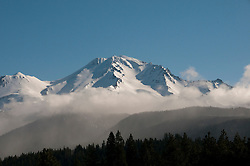Mt Shasta in Northern California as seen from west of the mountain.  Photo copyright Lee Foster california117956.