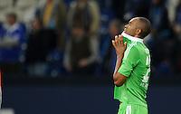 FUSSBALL   1. BUNDESLIGA  SAISON 2012/2013   7. Spieltag   FC Schalke 04 - VfL Wolfsburg        06.10.2012 NALDO (Wolfsburg) ist nach dem Abpfiff enttaeuscht