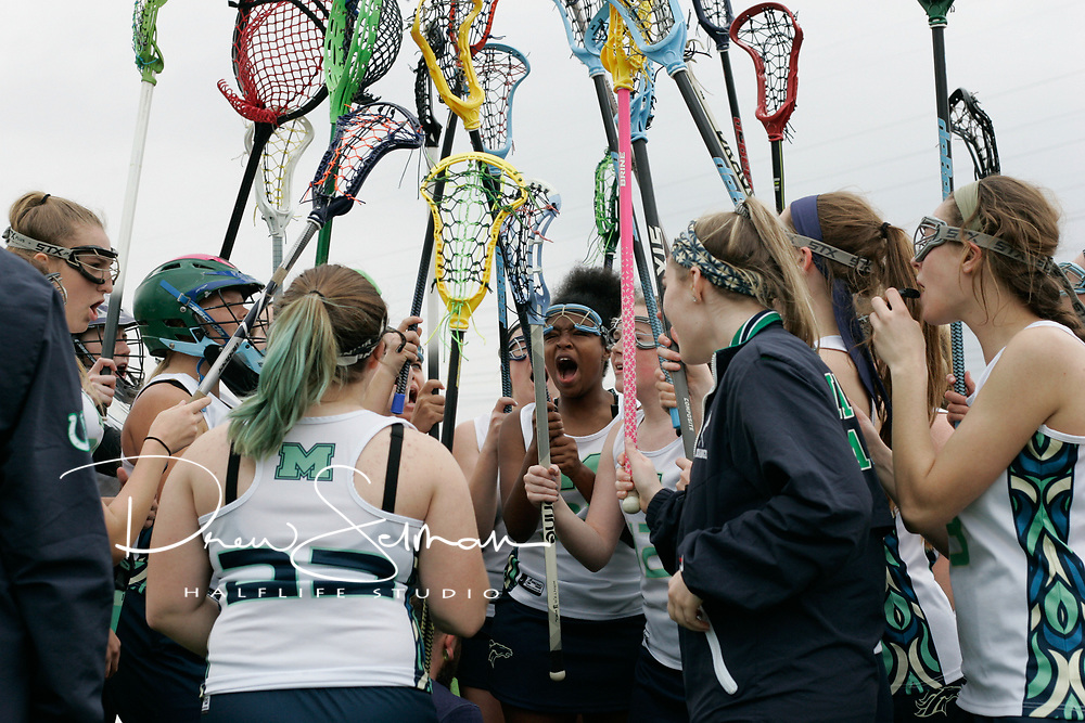 MHS Girls Varsity Lacrosse takes Clayton HS, 14-9 in their home opener.