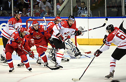 Rick Nash (61) and Dany Heatley (15) of Canada against Russians at  ice-hockey game Canada vs Russia at finals of IIHF WC 2008 in Quebec City,  on May 18, 2008, in Colisee Pepsi, Quebec City, Quebec, Canada. Win of Russia 5:4 and Russians are now World Champions 2008. (Photo by Vid Ponikvar / Sportal Images)