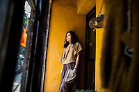 A portrait of Nguyen Mai Phuong, owner and designer at the aN fashion boutique in Hanoi, Vietnam.