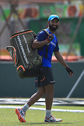July 25, 2017 - Galle, Sri Lanka - Indian cricketer Cheteshwar Pujara walks away after taking part in a practice session ahead of the 1st test match between Sri Lanka and India at Galle International cricket stadium, Galle, Sri Lanka on Tuesday 25 July 2017. (Credit Image: © Tharaka Basnayaka/NurPhoto via ZUMA Press)