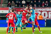 ENSCHEDE - 17-12-2016, FC Twente - AZ, Grolsch Velst Stadion, 1-2, FC Twente speler Enes Unal, AZ speler Ben Rienstra
