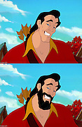 My, what a small face you have! Cartoonist draws Disney's leading men without their iconic beards to hilarious results<br /> <br /> Cartoonist and comic book artist Annie Erskine was watching The Little Mermaid one evening when she wondered what King Triton would look like without his beard.<br /> <br /> So the 24-year-old from Bowling Green, Kentucky, who works as a freelance graphic designer for The Cartoon Network, set about 'shaving' him.<br /> <br /> The response she received from family and friends was so great that she decided to de-beard other beloved Disney characters, and quickly created a collection of hairless leading men.<br /> Using Photoshop and a Wacom Intuos 4 tablet, it took Miss Erskine up to 45minutes to complete each image -- 'depending on the complexity of the beard'.<br /> <br /> 'Most Disney art is fairly simplistic to mimic so it isn't hard,' she told MailOnline. 'The most difficult one to date would have to be the Atlantis King. He had that crazy robe!'<br /> <br /> Rather than sending a complex message about Disney and its male characters, Miss Erskine said she simply wanted to 'make people smile' with her illustrations. <br /> Honestly, as a cartoonist myself, sometimes it's more fun to exaggerate proportions. I was just hoping to convey laughter. . . I wanted people to get a kick out of something,' she said, adding that she also played with adding beards to clean shaven Disney characters.<br /> <br /> So far Aladdin, Gaston from Beauty and the Beast and Prince Phillip from Sleeping Beauty have been given some facial hair.<br /> <br /> Miss Erksine, who has been drawing 'since she could hold a pencil' and making comics since she was in high school, was first hired as an illustrator by a local newspaper in 2007.<br /> In 2010 she began Happy Doodle Studios, a LLC to host all of her business and art ventures, before creating a comic book company, Ionic Comics.<br /> <br /> She is currently working on her own comic book creation, Magia High,