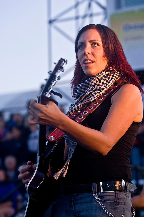 (Ottawa, Ontario---13 August 2008) Amanda Rheaume and her band performing at the opening ceremonies of the 2008 Ontario Summer Games in Ottawa. Photo copyright Sean Burges/Mundo Sport Images. More details can be found at www.msievents.com.