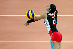 Winifer Maria Fernandez Perez of Dominican Republic during the volleyball match between National team of Dominican Republic and Argentina in Preliminary Round of Womens U23 World Championship 2017, on September 12, 2017 in SRC Stozice, Ljubljana, Slovenia. Photo by Morgan Kristan / Sportida