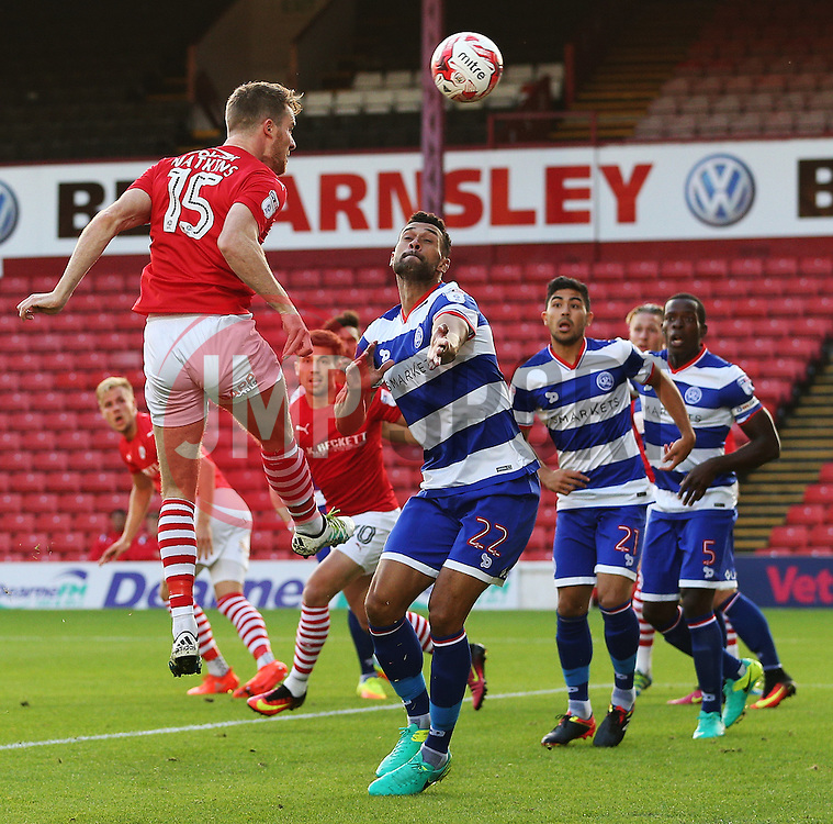 Marley Watkins of Barnsley scores his sides first goal  - Mandatory by-line: Matt McNulty/JMP - 17/08/2016 - FOOTBALL - Oakwell Stadium - Barnsley, England - Barnsley v Queens Park Rangers - Sky Bet Championship