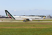 Alitalia, Airbus A330-202. Photographed at Malpensa airport, Milan, Italy