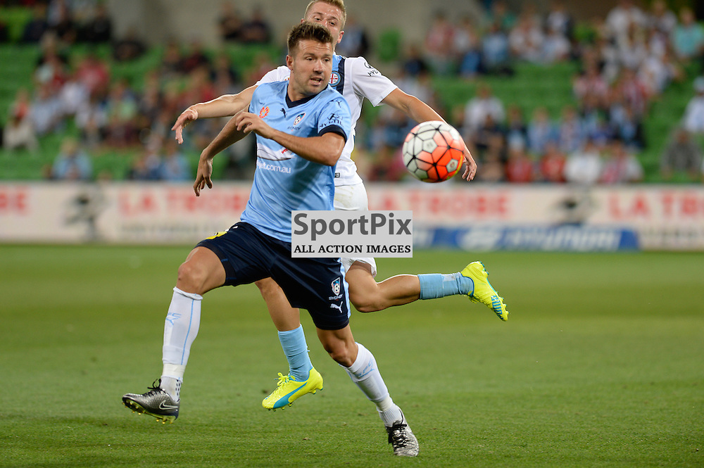 Milos Dimitrijevic of Sydney FC - Hyundai A-League, January 2nd 2016, RD13 match between Melbourne City FC V Sydney FC at Aami Park, Melbourne, Australia in a 2:2 draw. © Mark Avellino | SportPix.org.uk