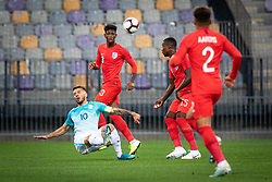 Jan Mlakar of Slovenia and Jonathan Panzo of England and Marc Guehi of England during friendly Football match between U21 national teams of Slovenia and England, on October 11, 2019 in Ljudski Vrt, Maribor, Slovenia. Photo by Blaž Weindorfer / Sportida