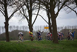 Amalie Dideriksen (DEN) of Boels-Dolmans Cycling Team digs deep on the front during Stage 4 of the Healthy Ageing Tour - a 126.6 km road race, starting and finishing in Finsterwolde on April 8, 2017, in Groeningen, Netherlands.