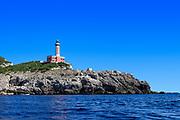 Lighthouse at Punta Carena, Capri Island, Province of Naples, Campania, Italy