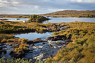 Stream and lake landscape, Connemara, Ireland