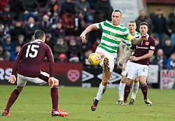 CelticÕs Scott Brown and Hearts Don Cowie during the Ladbrokes Scottish Premiership match at Tynecastle Stadium, Edinburgh.