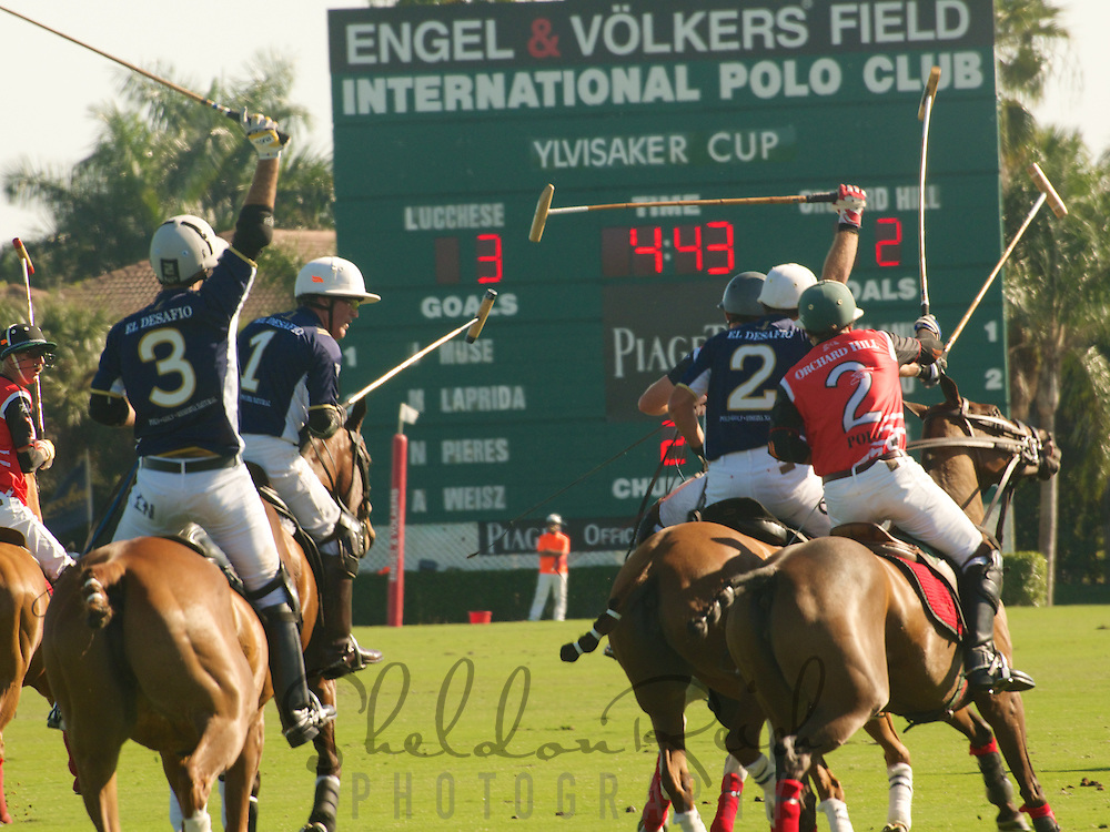 Polo Match at the International Polo Club in Wellington, Palm Beach County, Florida