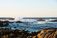 Breaking waves rugged California coast. Landscapes and Seascapes wall art. Fine art photography prints, stock images.