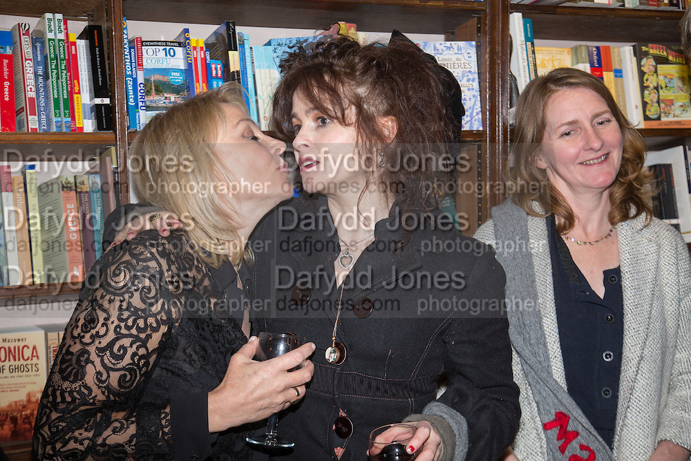HELEN FIELDING; HELENA BONHAM-CARTER; VIRGINIA BONHAM-CARTER Allie Esiri's The Love Book launch party , Daunt Books <br /> 83 Marylebone High Street, London. 5 February 2014