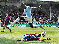 Football - 2018 / 2019 Premier League - Crystal Palace vs. Manchester City<br /> <br /> Benjamin Mendy of City and Aaron Wan - Bassaka of Palace, at Selhurst Park.<br /> <br /> COLORSPORT/ANDREW COWIE