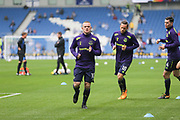 Everton striker Wayne Rooney (10) warm up during the Premier League match between Brighton and Hove Albion and Everton at the American Express Community Stadium, Brighton and Hove, England on 15 October 2017. Photo by Phil Duncan.