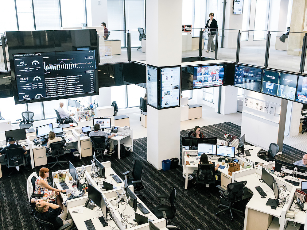 The Hub at the Washington Post's new offices in Washington, D.C. on Sept. 12, 2016.