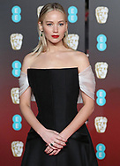 18.02.2018; London, England: JENNIFER LAWRENCE<br /> attends the 71st British Academy Film Awards (BAFTA) at the Royal Albert Hall, London<br /> Mandatory Photo Credit: &copy;NEWSPIX INTERNATIONAL<br /> <br /> IMMEDIATE CONFIRMATION OF USAGE REQUIRED:<br /> Newspix International, 31 Chinnery Hill, Bishop's Stortford, ENGLAND CM23 3PS<br /> Tel:+441279 324672  ; Fax: +441279656877<br /> Mobile:  07775681153<br /> e-mail: info@newspixinternational.co.uk<br /> Usage Implies Acceptance of Our Terms &amp; Conditions<br /> Please refer to usage terms. All Fees Payable To Newspix International