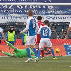 #11 Jordan Jones (Kilmarnock) finds a way past #1 Joe Lewis (Aberdeen) for 1-2 - Kilmarnock v Aberdeen - Ladbrokes Premiership - 26 November 2017 - © Russel Hutcheson | SportPix.org.uk