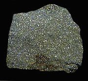 Crust of crystals on slate 'Irish Diamonds' Dublin, Eire